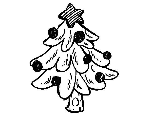Dibujos Para Colorear Arboles Navidenos: Dibujo De Un árbol Navidad Para Colorear