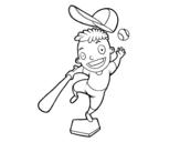 Dibujo de Un bateador