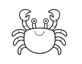 Dibujo de Un cangrejo de mar para colorear