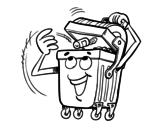 Dibujo de Un contenedor para colorear