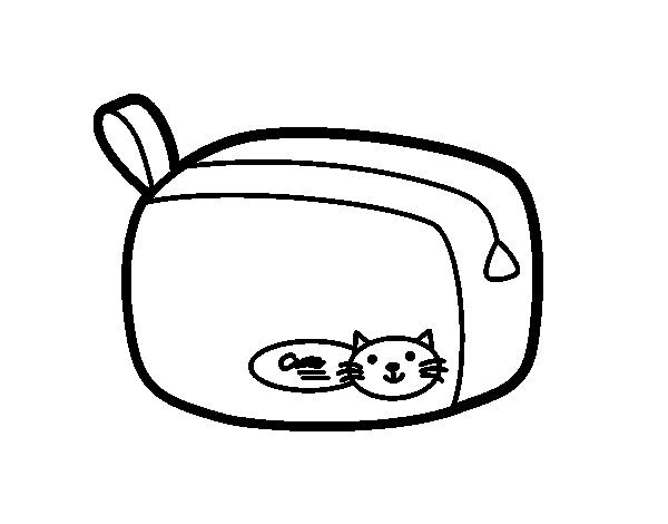 Dibujo de Un estuche para Colorear - Dibujos.net