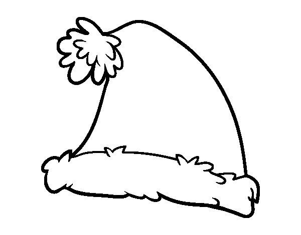 Dibujo de Un gorro de Santa Claus para Colorear
