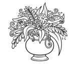 Dibujo de Un jarrón con flores