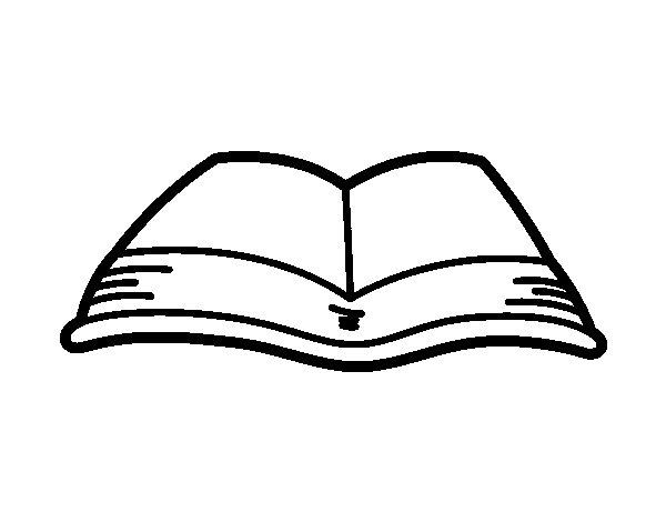 Dibujo de Un libro abierto para Colorear - Dibujos.net