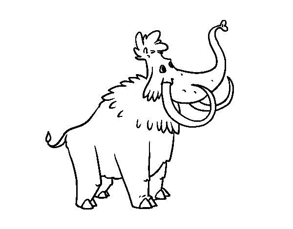 Dibujo de Un Mamut para Colorear