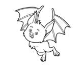 Dibujo de Un murciélago simpático para colorear