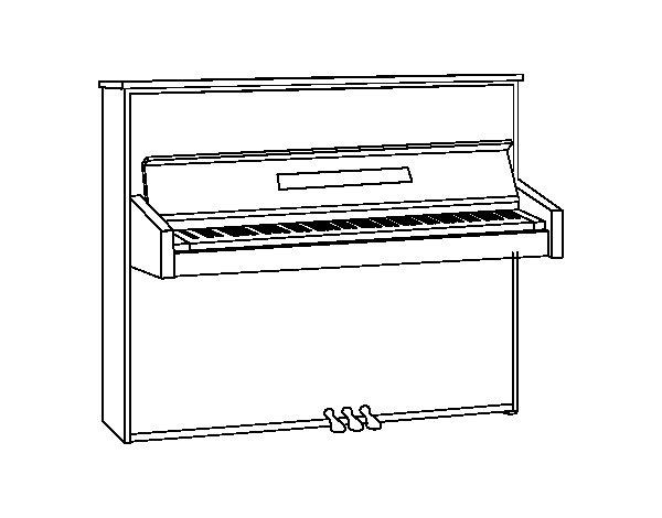 Dibujo de Un piano de pared para Colorear