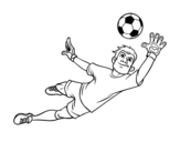 Dibujo de Un portero de fútbol