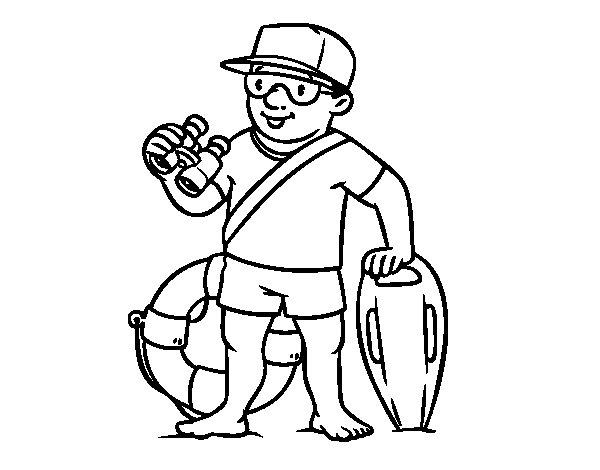 Dibujo de Un socorrista para Colorear