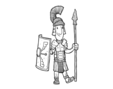 Dibujo de Un soldado romano