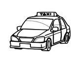 Dibujo de Un taxi para colorear