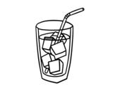 Dibujo de Un vaso de refresco