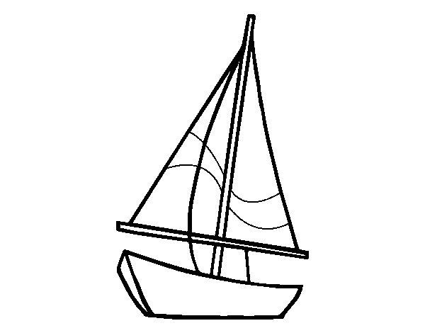 Dibujo de Un velero para Colorear