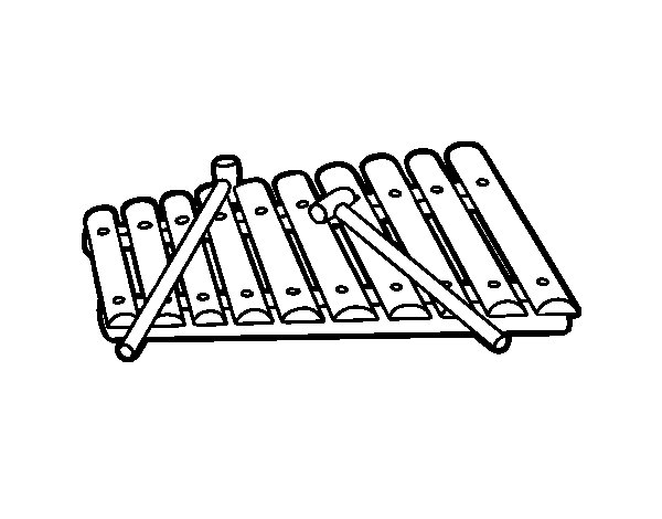 Dibujos De Instrumentos Musicales Para Imprimir Y Colorear: Dibujo De Un Xilófono Para Colorear