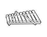 Dibujo de Un xilófono para colorear