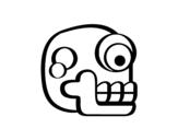 Dibujo de Una calavera azteca