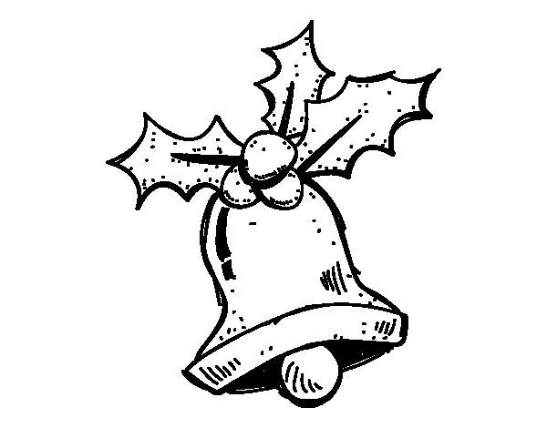 Dibujos para colorear de hojas de acebo navidad auto - Campanas de navidad ...