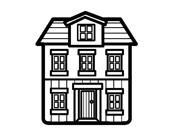Dibujo de una casa para colorear - Fotos de casas para dibujar ...