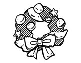 Dibujo de Una corona de Navidad para colorear