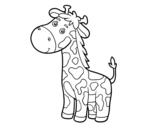 Dibujo de Una jirafa para colorear