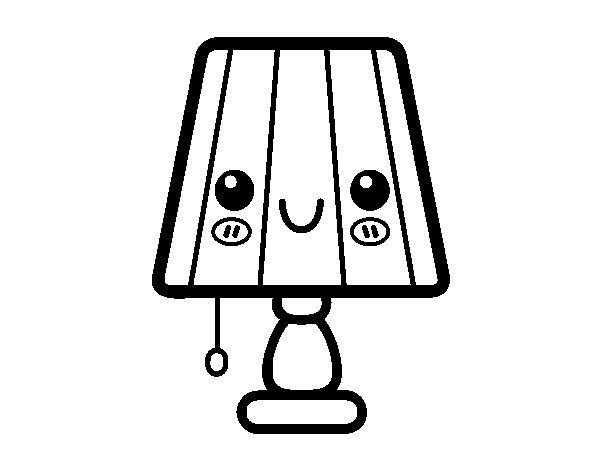 Lampara dibujo para colorear imagui for Mesa de luz para dibujo