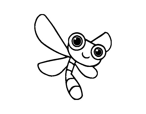 Dibujo de Una libélula para Colorear
