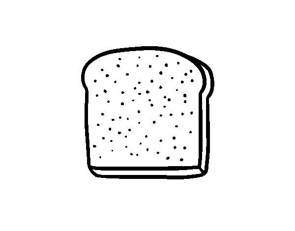 Dibujo de Una rebanada de pan para Colorear
