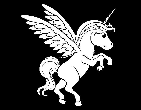 Imágenes de Unicornios para dibujar y colorear infantiles