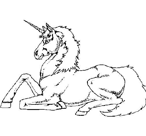 Eenhoorn Onchao Kleurplaat Dibujo De Unicornio Sentado Para Colorear Dibujos Net