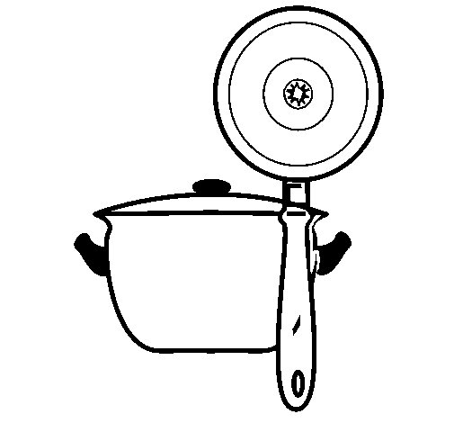 Dibujo de Utensilios de cocina para Colorear