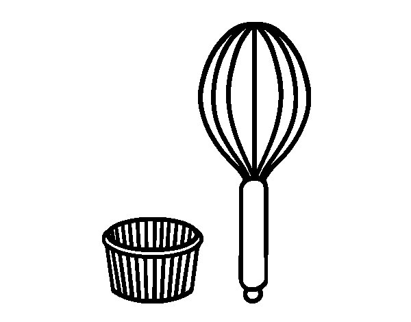 Dibujo de utensilios de pastelero para colorear for Utensilios de cocina imagenes para imprimir