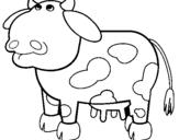 Dibujo de Vaca pensativa para colorear