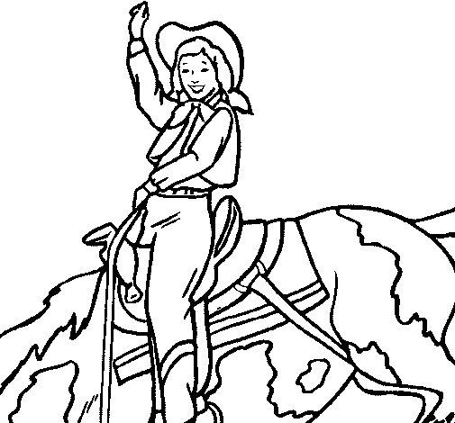 Dibujo de Vaquera para Colorear