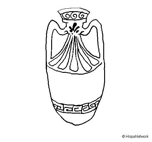 Dibujo de Vasija para Colorear