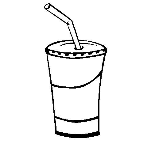 Dibujo de Vaso de batido para Colorear