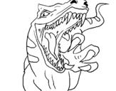 Dibujo de Velociraptor II para colorear