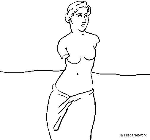 Dibujo de Venus de Milo para Colorear