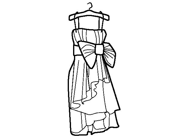 Dibujo de Vestido de fiesta para Colorear - Dibujos.net