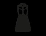 Dibujo de Vestido tejano para colorear
