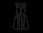 Dibujo de Vestido veraniego para colorear