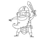 Dibujo de Vikingo al ataque