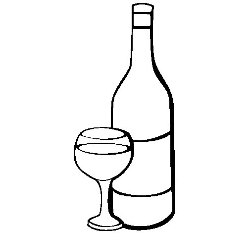Dibujo de Vino para Colorear