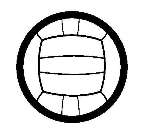 Dibujo de Voleibol para Colorear