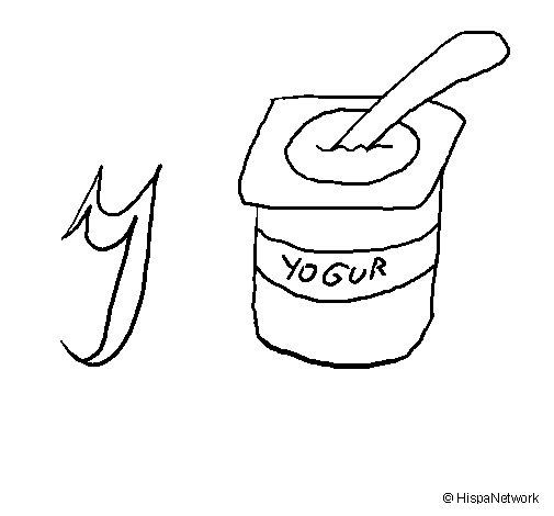 Dibujo de Yogur para Colorear