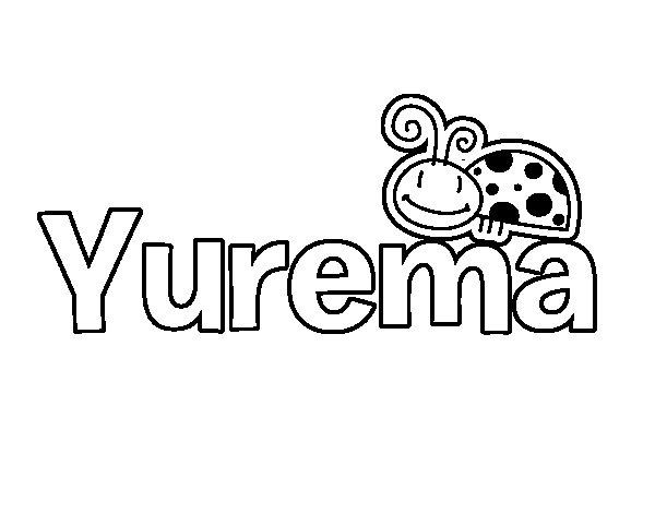 Dibujo de Yurema para Colorear
