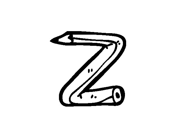 Dibujo de Z minúscula para Colorear