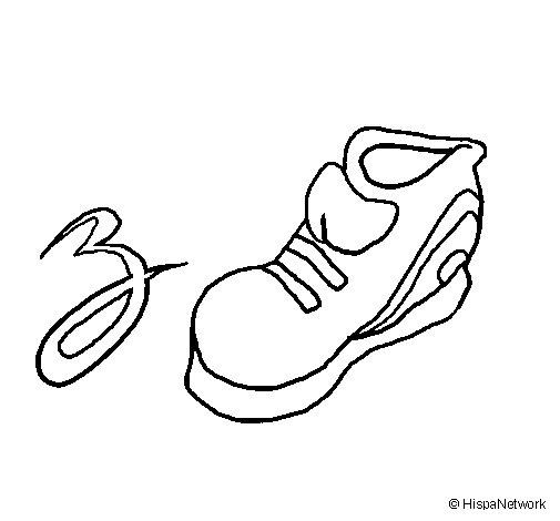 Dibujo de Zapatilla para Colorear