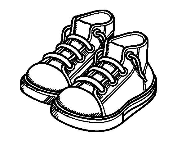 Dibujo de Zapatillas de niño para Colorear