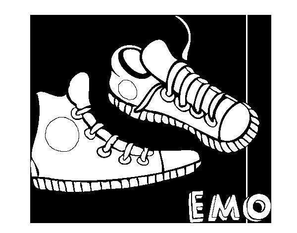 Dibujo de Zapatillas para Colorear - Dibujos.net