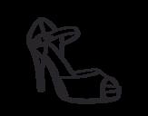 Dibujo de Zapato de tacón abierto para colorear